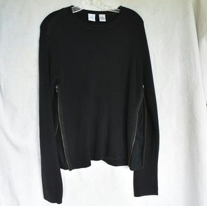 AX Armani Exchange black sweater, zipper sides, L